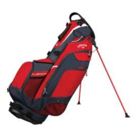 Callaway Fusion 14 2018 Stand Bag - Red/Grey/Silver