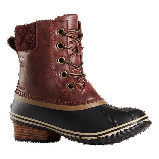 a7af42d7e5 Sorel Women s Slimpack II Lace Winter Boots - Brown Red