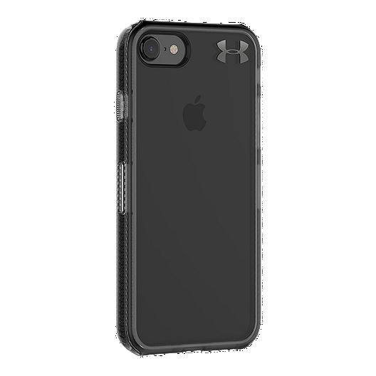 purchase cheap c5923 4744f Under Armour UA Protect Verge Case for iPhone 8, 7 - Translucent  Smoke/Black/Black Metallic Logo