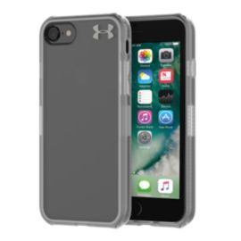 Under Armour UA Protect Verge Case for iPhone 8, 7 - Clear/Graphite/Gunmetal Logo