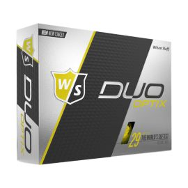 Wilson DUO Soft Optix Yellow Golf Balls - 12 Pack