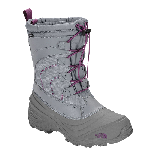 04e508e7d The North Face Girl's Alpenglow IV Winter Boots - Frost Grey/Violet