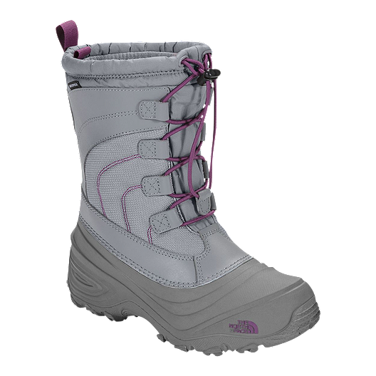 7bb14f554 The North Face Girl's Alpenglow IV Winter Boots - Frost Grey/Violet