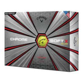 Callaway Chrome Soft X Yellow Golf Balls - 12 Pack
