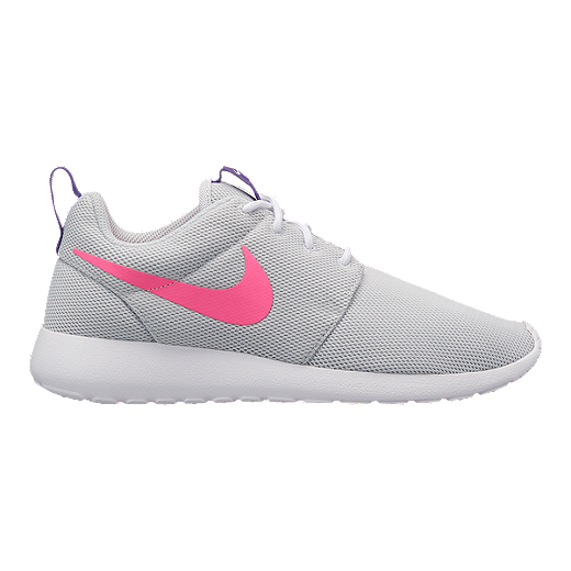 huge selection of cf5ed c0b35 Nike Women's Roshe One Shoes - Pure Platinum/Pink/Purple