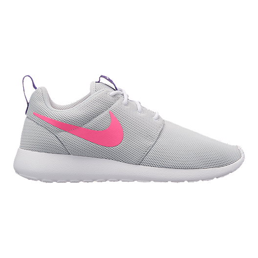 save off 652f3 ea623 Nike Women s Roshe One Shoes - Pure Platinum Pink Purple   Sport Chek
