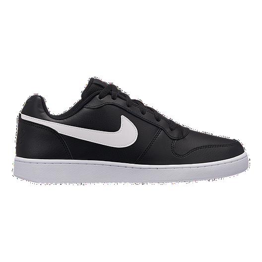 eab9885d8a4 Nike Men s Ebernon Low Shoes - Black White