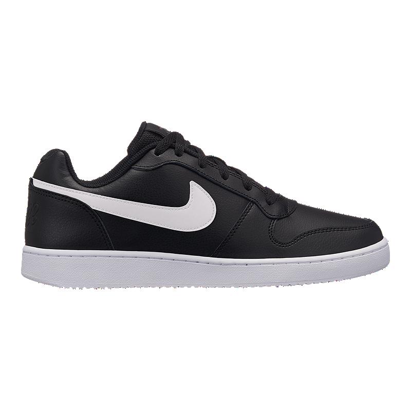 size 40 30f0a 2f395 Nike Men s Ebernon Low Shoes - Black White   Sport Chek