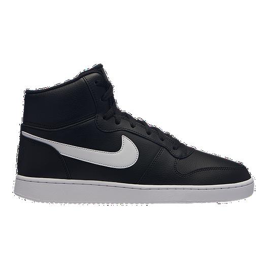 new product fd10e c2617 Nike Men s Ebernon Mid Shoes - Black White   Sport Chek