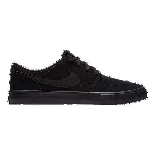 size 40 51571 3abba Nike SB Men s Portmore II Solar Skate Shoes - Black Anthracite   Sport Chek