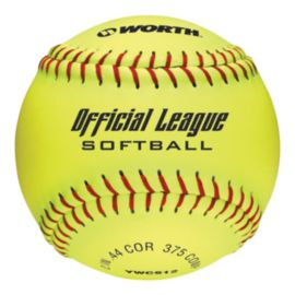 "Worth Soft Dot 12"" Durahyde Yellow Softball"