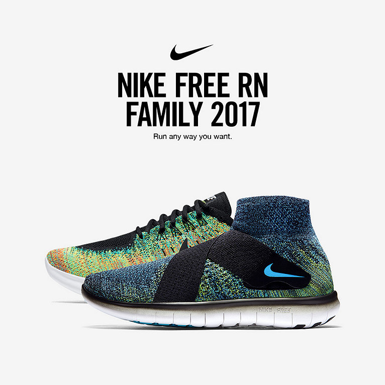buy popular 04590 22a3a ... Nike Free RN 2017 Running Shoe Collection ...