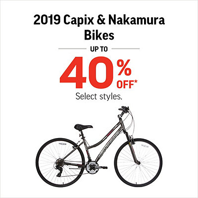 Select 2019 Capix & Nakamura Bikes Up To 40% Off*