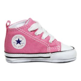 Converse Baby Chuck Taylor First Star High Top Shoes - Pink