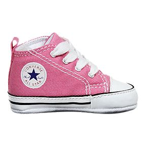 212754dd0d0d2f Converse Baby Chuck Taylor First Star High Top Shoes - Pink