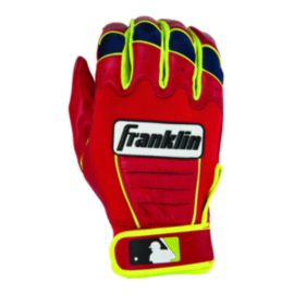 Franklin Ortiz Signature Series CFX Pro Batting Gloves - Red/Optic Yellow