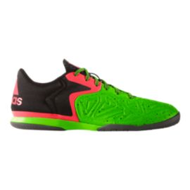 adidas Men's VS X 15.3 Low Indoor Soccer Shoes - Lime Green/Black/Pink