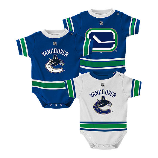 647365170d9 Infant Vancouver Canucks 3 Pack Jersey Creeper Set