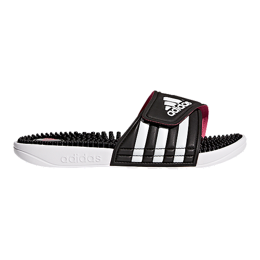 5203519fef083 adidas Women s Adissage Sandals - Black White Pink