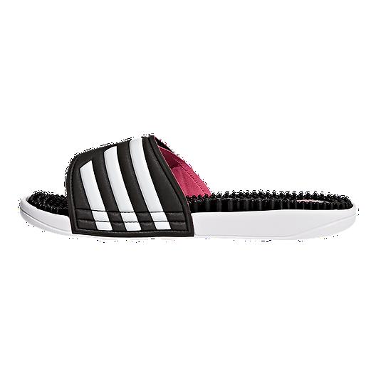 b54ba66f07e7a7 adidas Women s Adissage Sandals - Black White Pink