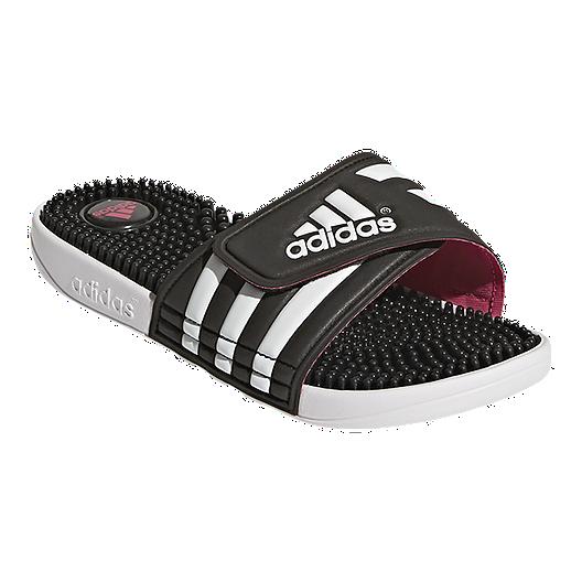 b091804efe426c adidas Women s Adissage Sandals - Black White Pink. (11). View Description
