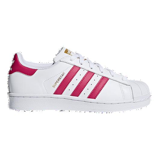 0c2ad4437d3 adidas Girls' Superstar Grade School Casual Shoes - White/Pink   Sport Chek