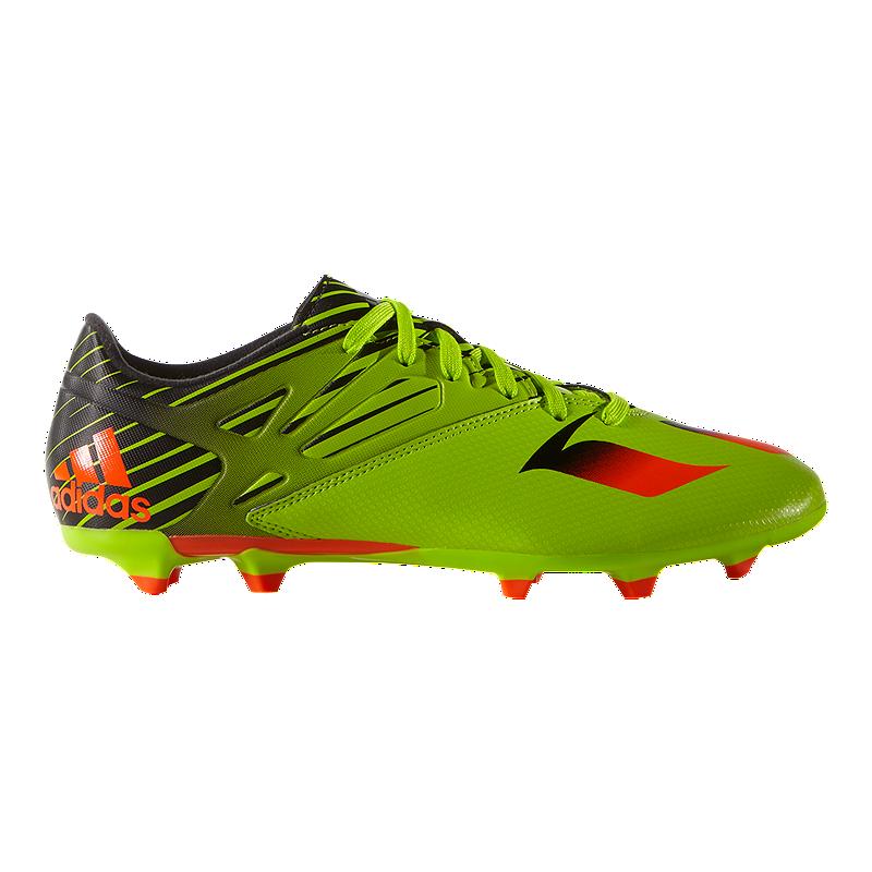 ac72277375049 adidas Men's Messi 15.3 FG Outdoor Soccer Cleats - Lime Green/Black/Orange    Sport Chek