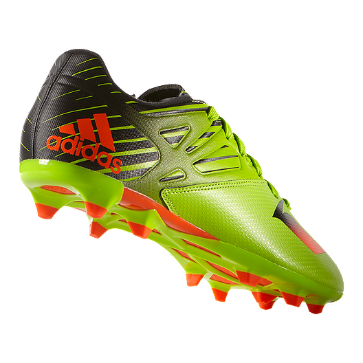 2878d754a264 adidas Men's Messi 15.3 FG Outdoor Soccer Cleats - Lime Green/Black/Orange.  (1). View Description