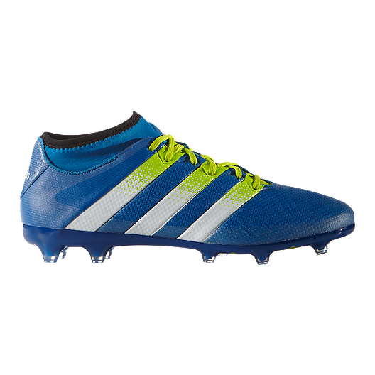 best service 6c1f8 b3355 adidas Men's Ace 16.2 Primemesh FG Outdoor Soccer Cleats - Blue/Green/Black