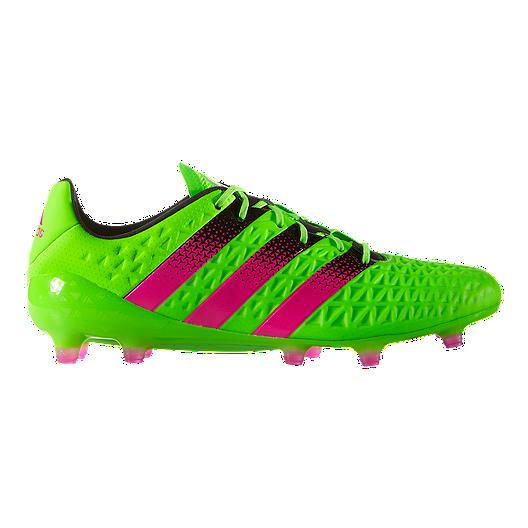 b32a16a8644 adidas Men s Ace 16.1 FG Outdoor Soccer Cleats - Green Pink Black ...