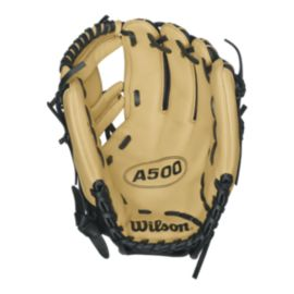 "Wilson A500 11.5"" Baseball Glove - Black/Tan"