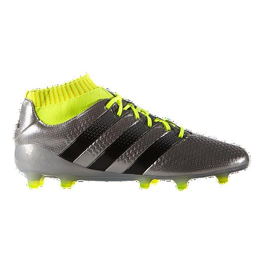 e67b1eb1b adidas Men s Ace 16.1 PrimeKnit FG Outdoor Soccer Cleats - Silver ...