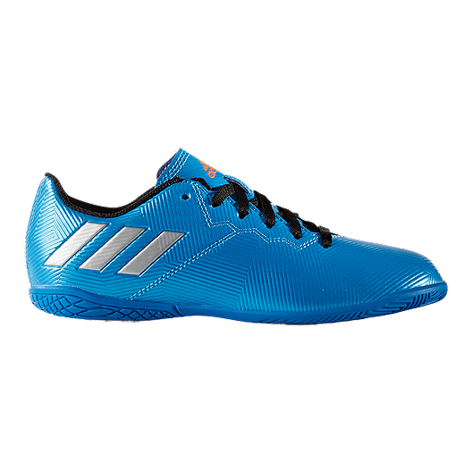 a701eb5fa41dd adidas Kids  Messi 16.4 IN Indoor Soccer Shoes - Blue White