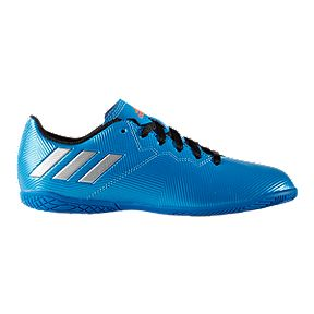754dac18d3c6 adidas Kids' Messi 16.4 IN Indoor Soccer Shoes - Blue/White