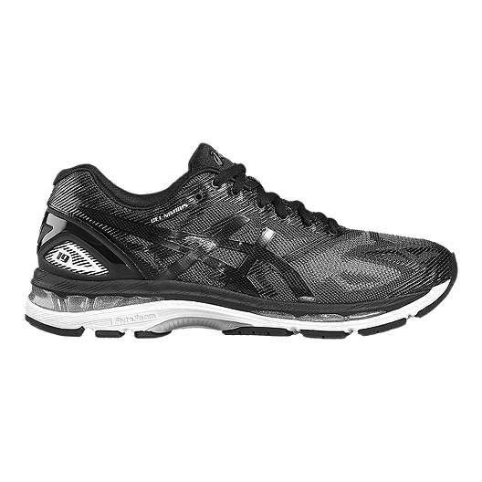 new product 8e35b b0117 ASICS Men's Gel Nimbus 19 Running Shoes - Black Pattern/Silver