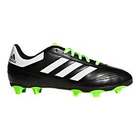 b2bd66075 adidas Kids  Goletto VI Outdoor Soccer Cleats - Black Lime Green