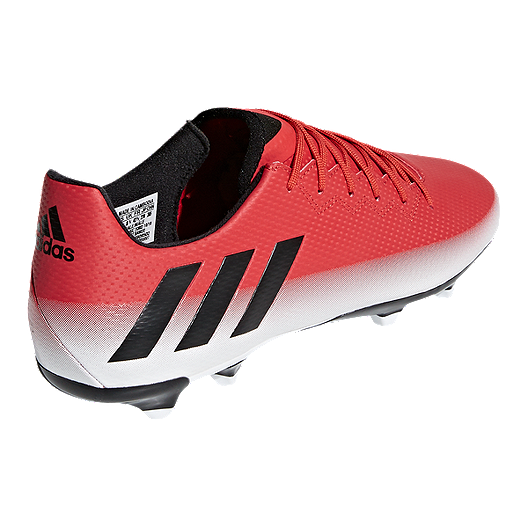 94f01550849 adidas Men s Messi 16.3 FG Outdoor Soccer Cleats - Red White Black. (1).  View Description