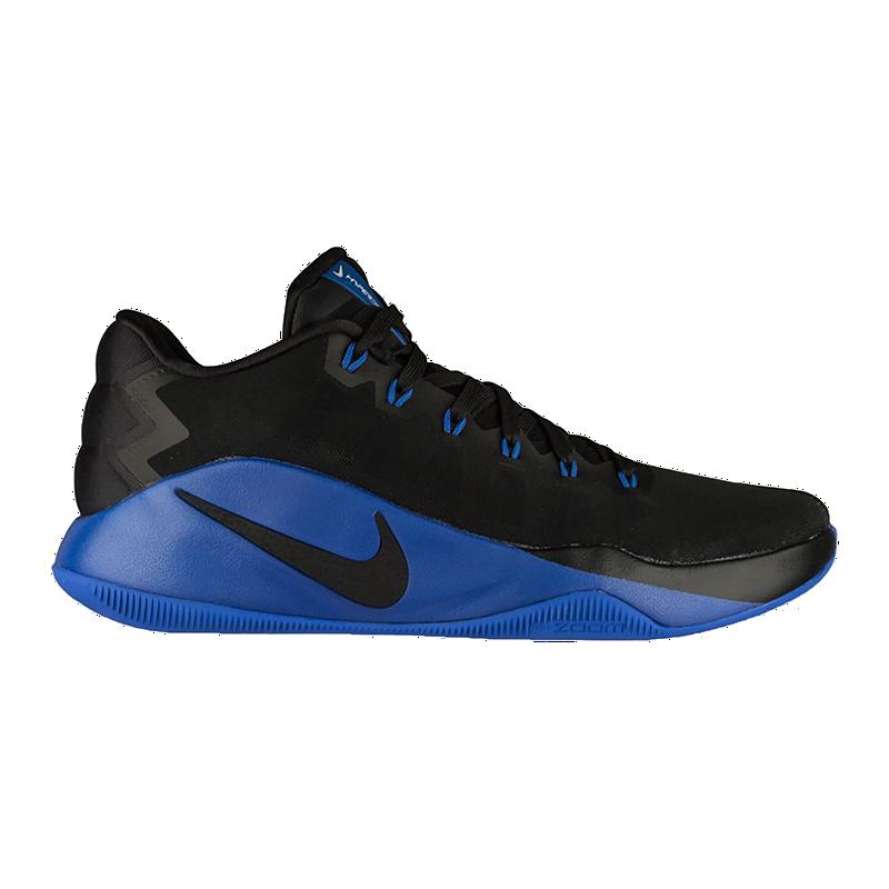 4dbffbf9228 Nike Men s Hyperdunk 2016 Low Basketball Shoes - Black Royal Blue ...