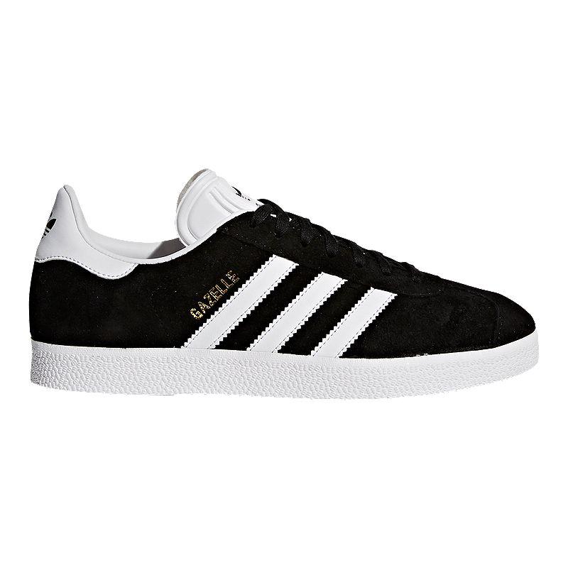 adidas Women's Gazelle Shoes - Black/White   Sport Chek