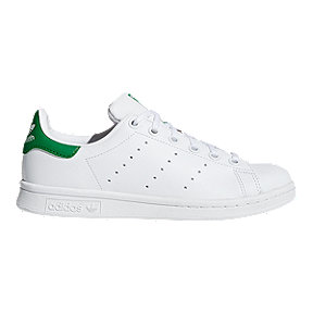adidas Kids' Stan Smith Grade School Casual Shoes - White/Green