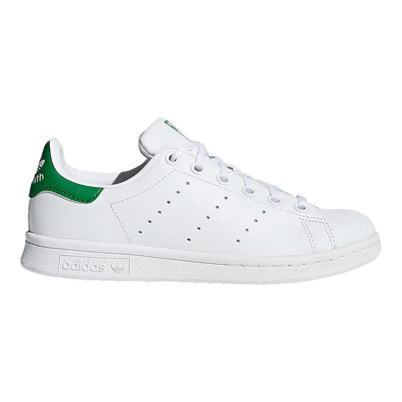 adidas Kids  Stan Smith Grade School Casual Shoes - White Green ... 59bf2bb49