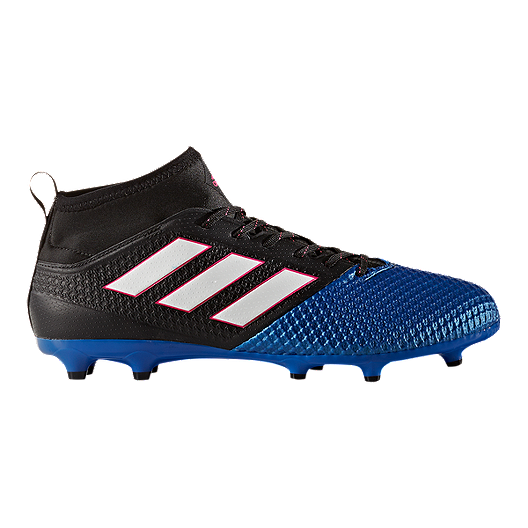 20114af972f adidas Men s Ace 17.3 PrimeMesh FG Outdoor Soccer Cleats - Blue Black Red