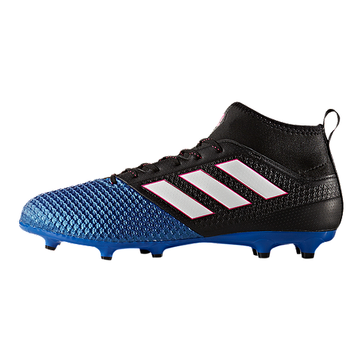 5ecdf7f39287a adidas Men's Ace 17.3 PrimeMesh FG Outdoor Soccer Cleats - Blue/Black/Red