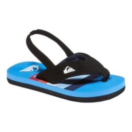 Quiksilver Toddler Molokai Layback Sandals - Blue/Black/Red