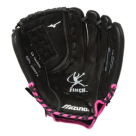 "Mizuno Finch Youth 11"" Baseball Glove - Black/Pink"