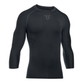 Under Armour Zonal Compression 3/4 Sleeve Shirt - Black
