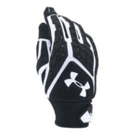 Under Armour Youth Combat Football Gloves - Black/White