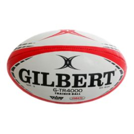 Gilbert G-TR4000 Rugby Trainer Ball - Red/White