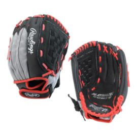 "Rawlings Youth Playmaker 11.5"" Baseball Glove - Black/Red"