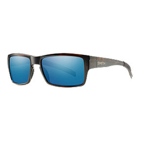 Smith Outlier Polarized Sunglasses - Matte Tortoise with Blue Sol-X Lenses